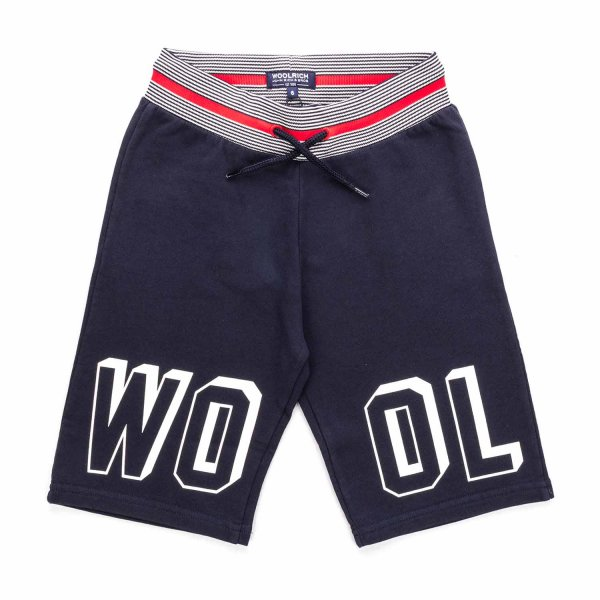 Woolrich - BLUE COTTON SHORTS FOR BOY
