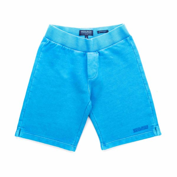 Woolrich - LIGHT BLUE SHORTS FOR BOYS