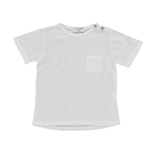 One More In The Family - BABY BOYS WHITE T-SHIRT