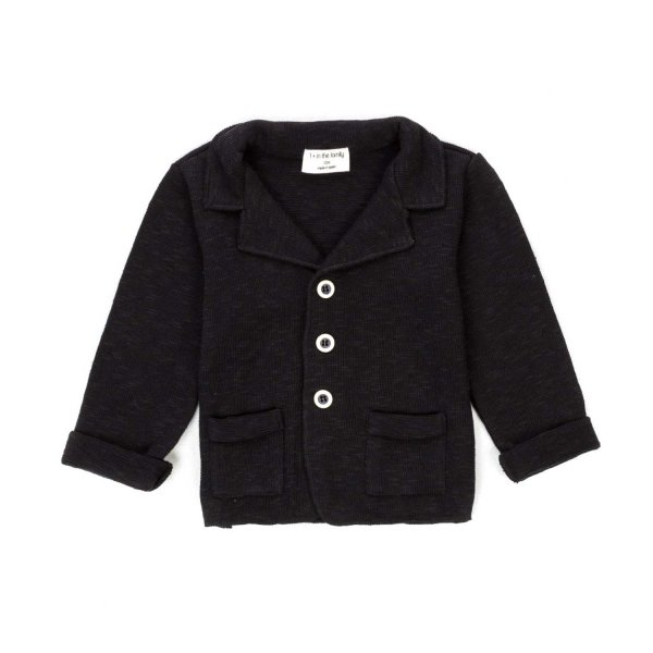 One More In The Family - BABY BOY BLACK JACKET