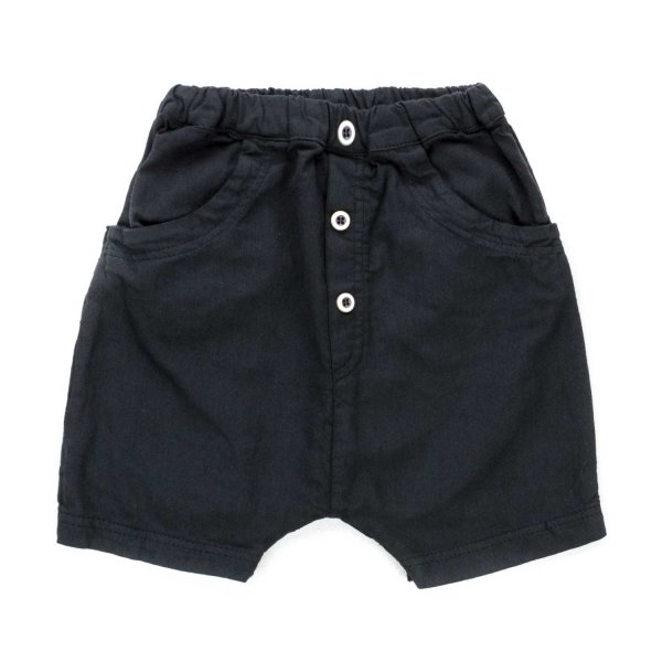 One More In The Family - BABY BOY BLACK SHORTS