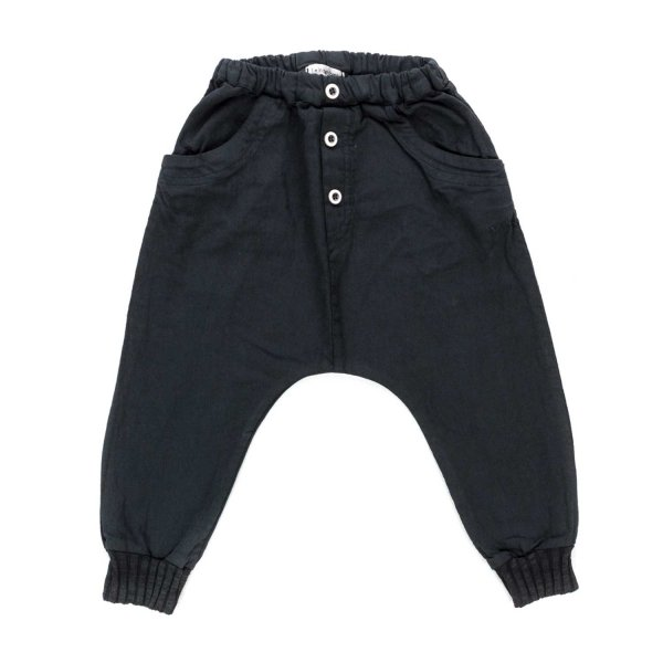 One More In The Family - BABY BOY BLACK TROUSERS