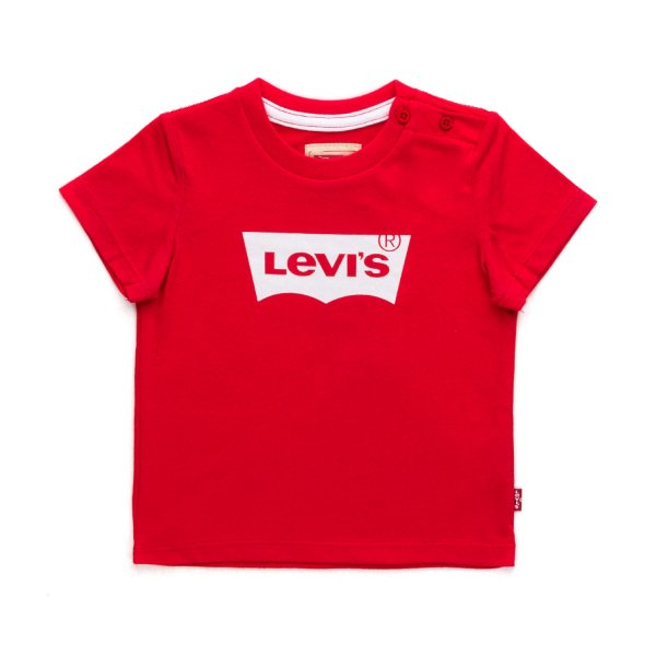 Levi's - RED COTTON T-SHIRT FOR BABY BOYS