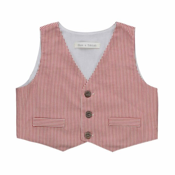 Zhoe & Tobiah - STRIPED VEST FOR LITTLE BOYS
