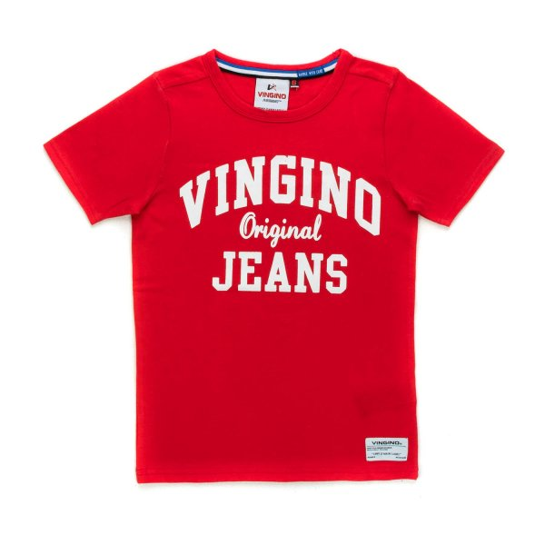 Vingino - RED COTTON T-SHIRT FOR BOYS