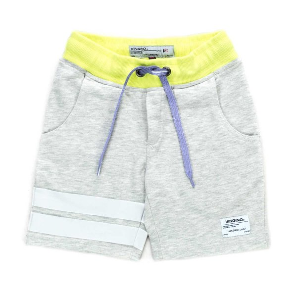 Vingino - GREY COTTON SHORTS FOR BOY