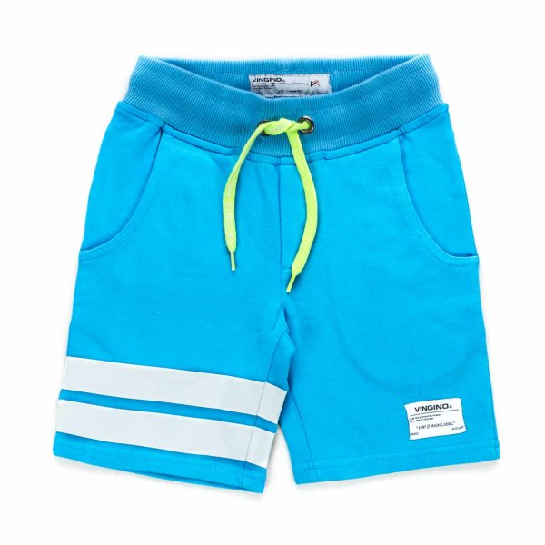 Vingino - BOY LIGHT BLUE COTTON SHORTS
