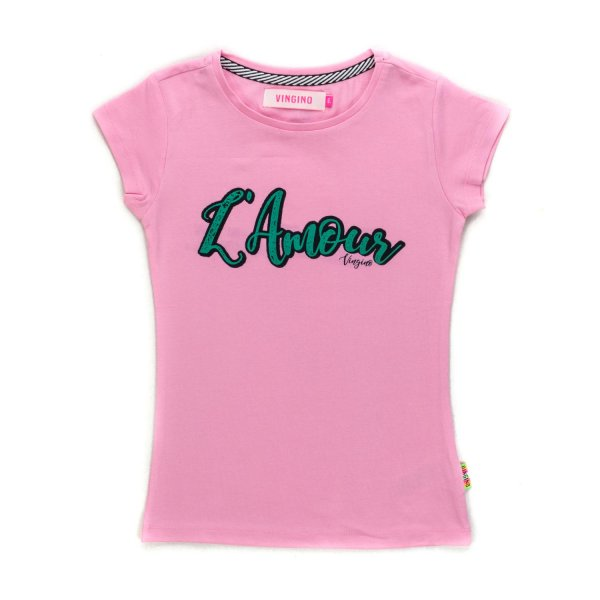 Vingino - GIRL PINK COTTON BLEND T-SHIRT