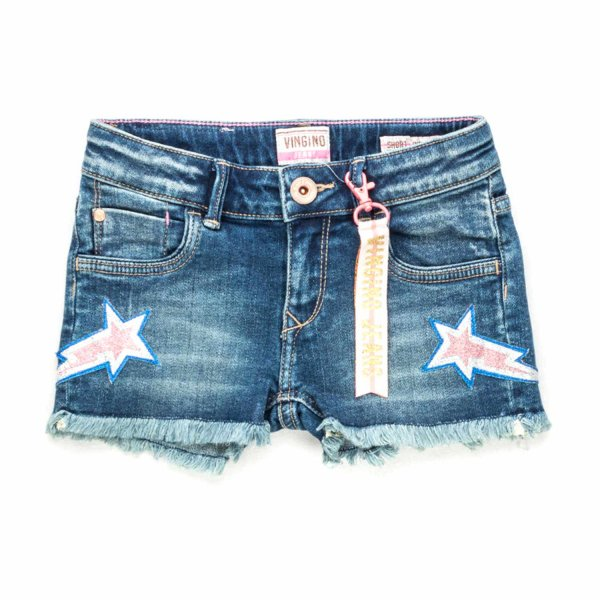 Vingino - DENIM COTTON SHORTS FOR GIRLS