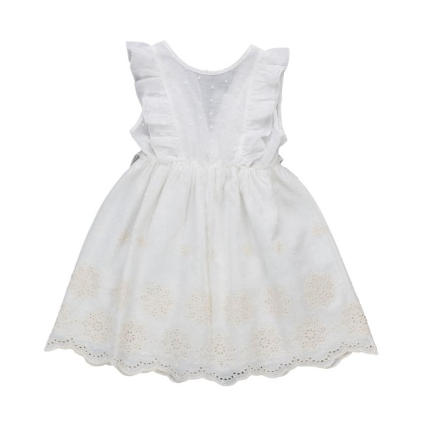 Zhoe & Tobiah - LITTLE GIRLS EMBROIDERED DRESS