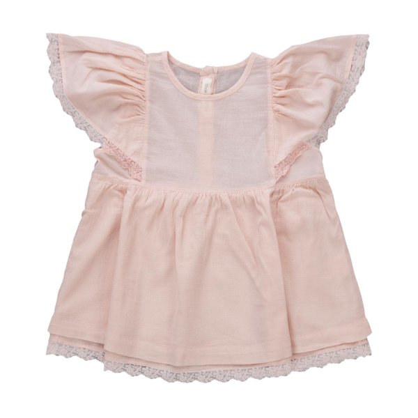 Zhoe & Tobiah - LITTLE GIRL ELEGANT PINK TOP