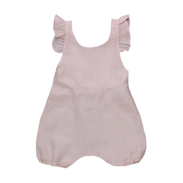 Zhoe & Tobiah - BABY GIRL PINK OVERALLS