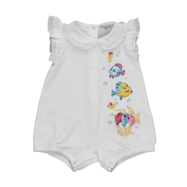 Monnalisa - BABY GIRL COTTON ROMPERS