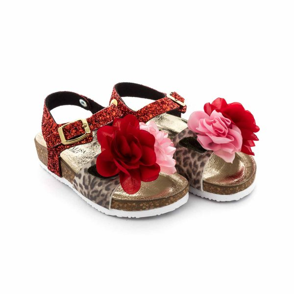 Monnalisa - GIRL SANDALS WITH FLOWERS