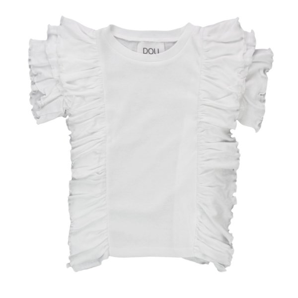 Douuod - T-SHIRT WITH RUCHES FOR GIRLS