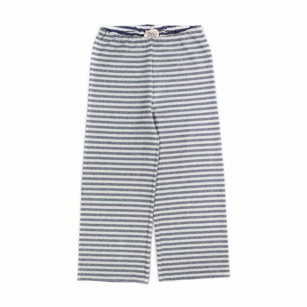Douuod - GIRL STRIPED PALAZZO TROUSERS