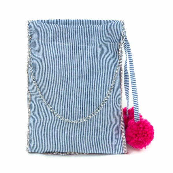 Piccolaludo - handbag with pom poms for girls