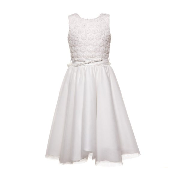 Piccolaludo - WHITE DRESS FOR GIRL