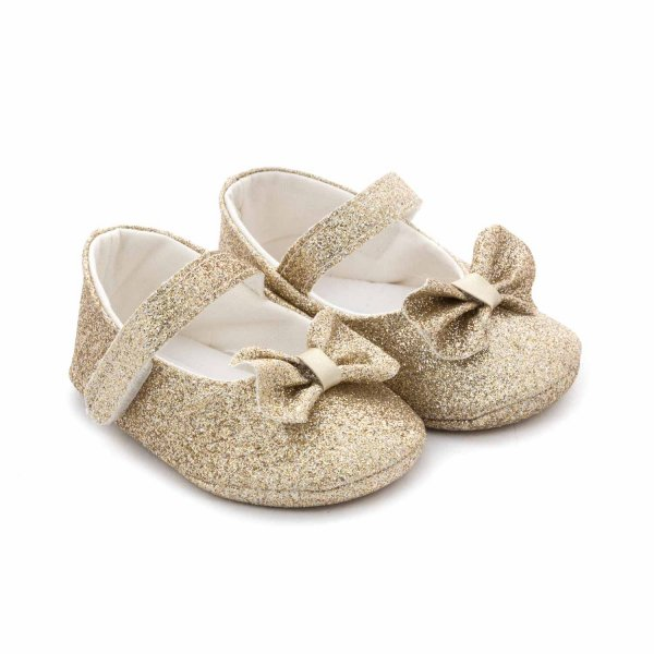 Elsy - BABY GIRL GOLD BALLERINA SHOES