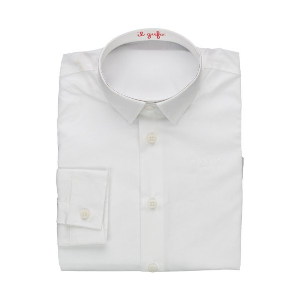 Il Gufo - BABY BOYS WHITE COTTON SHIRT