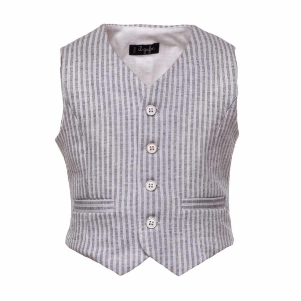 Il Gufo - BABY BOY STRIPED VEST