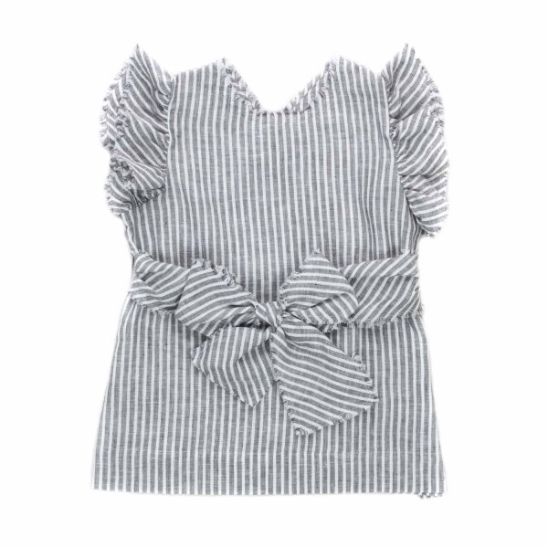 Il Gufo - GIRL STRIPED TOP WITH BOW