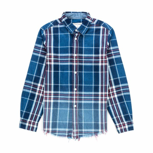 White Sand - BLUE CHECK SHIRT FOR BOYS