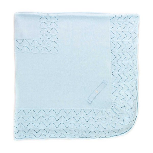 Pili Carrera - BABY BOY LIGHT BLUE BLANKET
