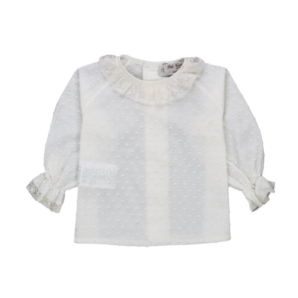 Pili Carrera - BABY GIRLS EMBROIDERED BLOUSE