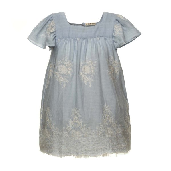 Babe & Tess - EMBROIDERED DRESS FOR LITTLE GIRLS