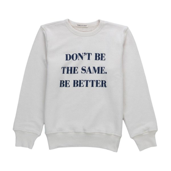 Babe & Tess - WHITE SWEATSHIRT FOR BOYS