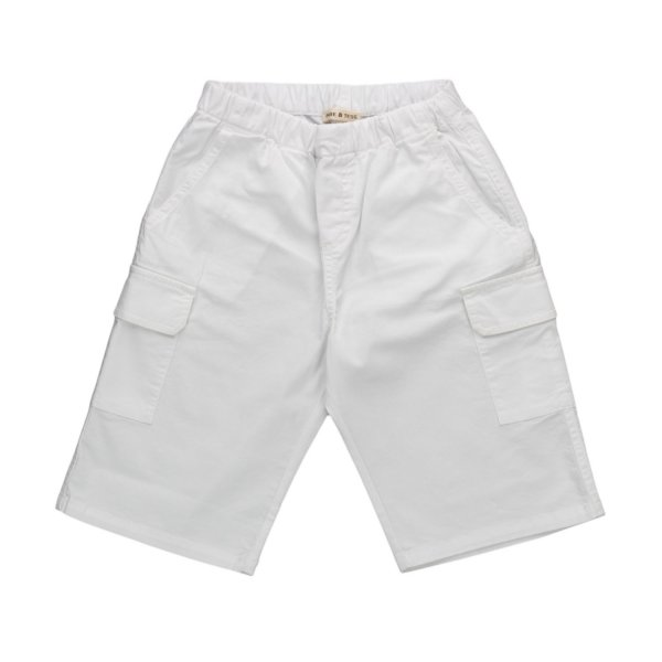 Babe & Tess - WHITE BERMUDA SHORTS FOR BOY