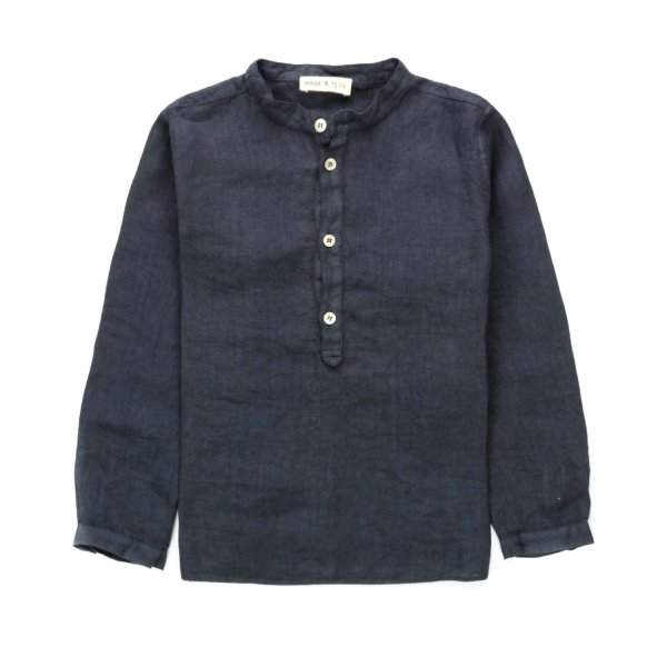 Babe & Tess - BLUE LINEN SHIRT FOR BOY