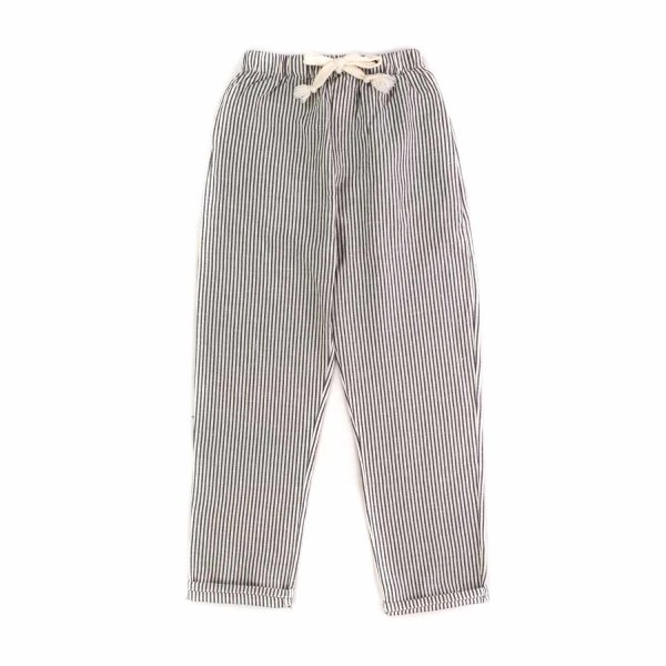 Tocotò Vintage - GIRLS BLUE STRIPED TROUSERS