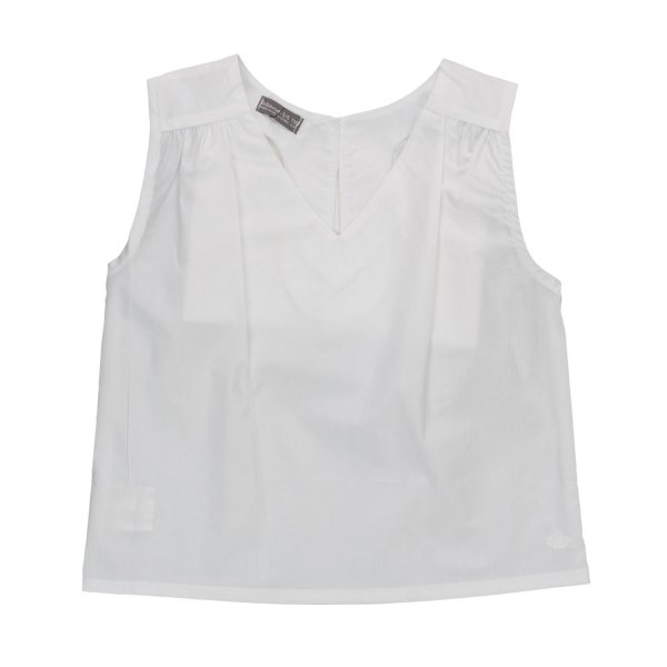 Yellowsub - LITTLE GIRL WHITE COTTON TOP