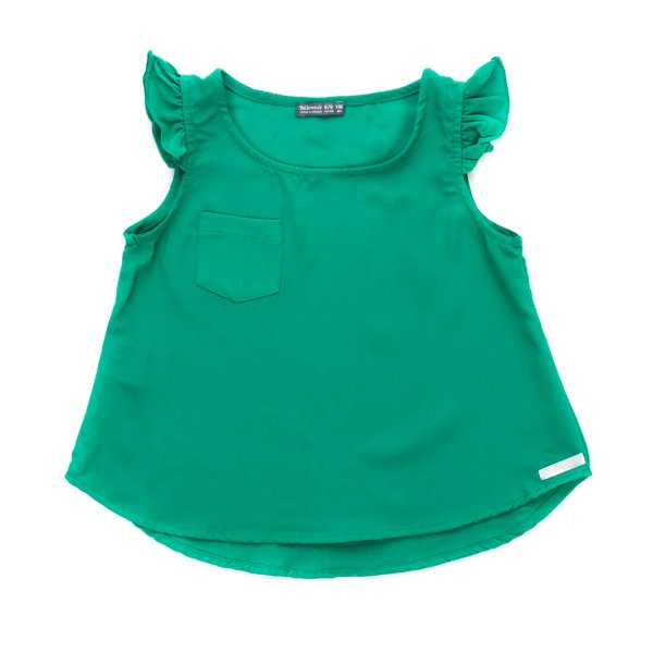 Yellowsub - GREEN TOP WITH RUCHES FOR GIRLS