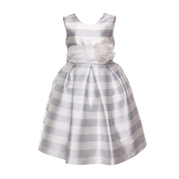 La Stupenderia - PEARL GREY DRESS FOR GIRLS