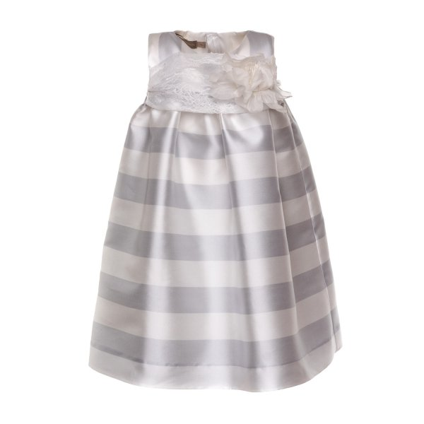 La Stupenderia - LITTLE GIRL SILK BLEND DRESS