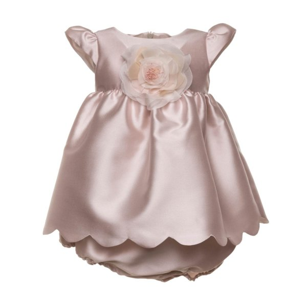 La Stupenderia - ELEGANT PINK DRESS FOR BABY GIRLS