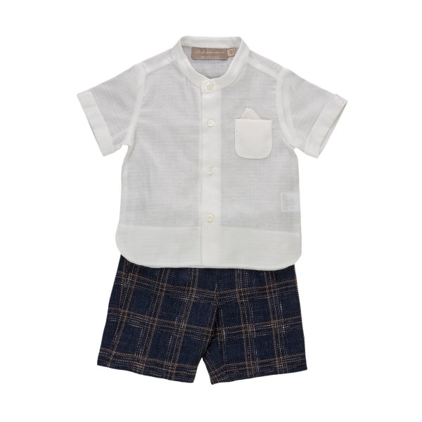 La Stupenderia - BABY BOY SHIRT AND SHORTS SET