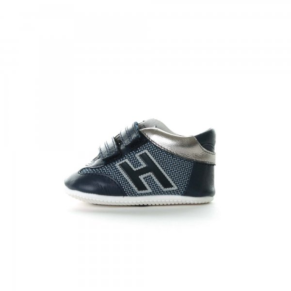 Hogan - Baby sneakers Olympia blu e argento