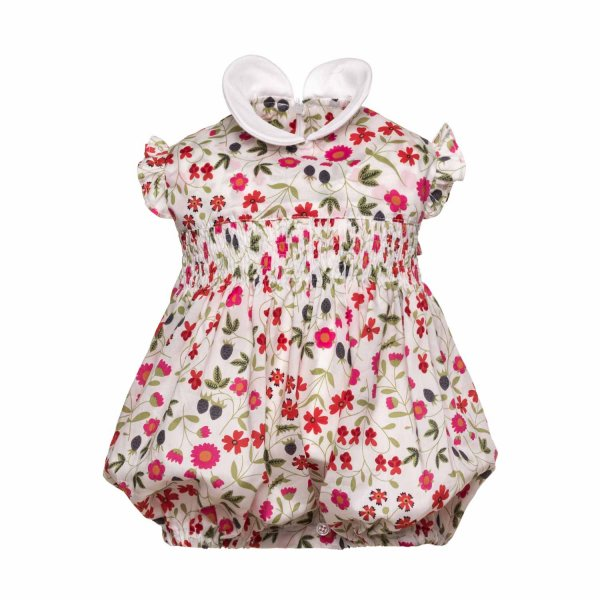Paio Crippa - BABY GIRL FLORAL ROMPER