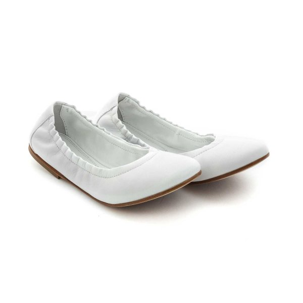 Montelpare Tradition - GIRL WHITE BALLERINA SHOES