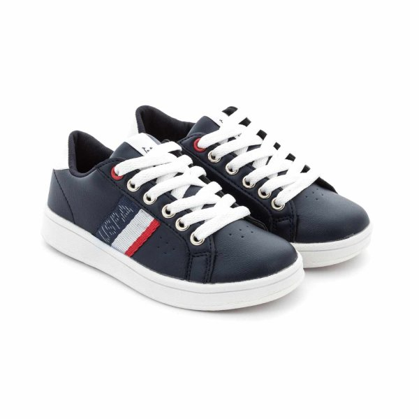U.s. Polo Assn. - SNEAKERS BLU BAMBINO TEEN