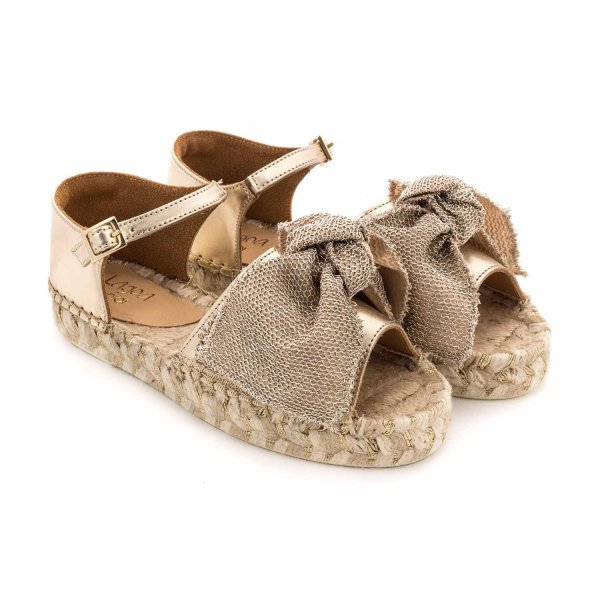 Lagoa - GOLD GIRONA SANDALS FOR GIRLS