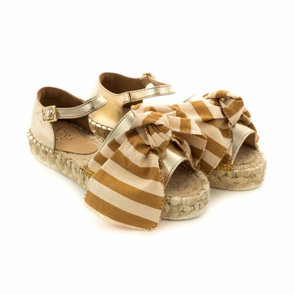 Lagoa - GOLD SANDALS WITH BOW FOR GIRLS