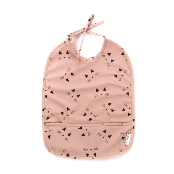 Liewood - CAT PRINT BIB FOR BABY GIRLS