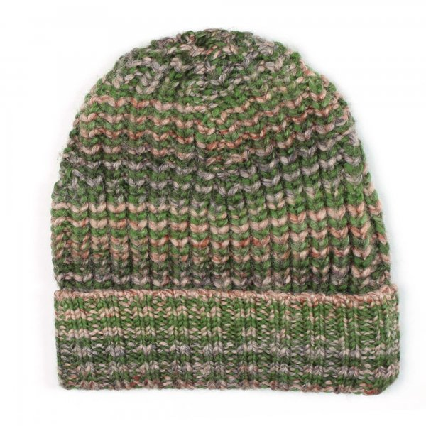 American Outfitters - Cappello verde melange a righe
