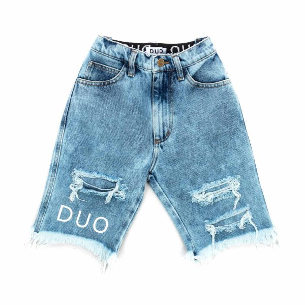 Natasha Zinko - DENIM BERMUDA SHORTS FOR GIRLS