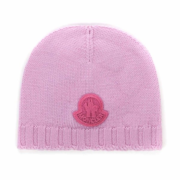 Moncler - WOOL BEANIE FOR BABY GIRL